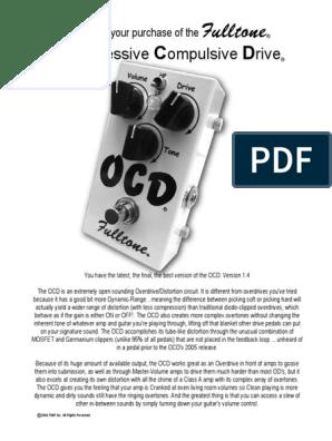 Dating OCD pedal