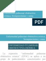 Enfermedad Pulmonar Obstructiva Crónica, Bronquiectasias y Asma