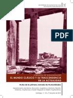PDF_Actas de la primera Jornada de Humanidades_El Mundo Clásico y su trascendencia en la actualidad.pdf