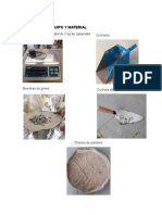 procedimiento de elaboración de un mortero