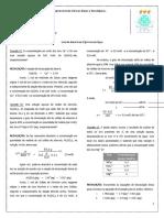 Lista de Exercícios I - Química Da Agua
