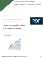 Compensación de potencia reactiva de los componentes reactivos - Tutoriales de electrónica básica.pdf