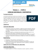Planificacion M1 E2 Ciencias Naturales, Lengua, Sociales