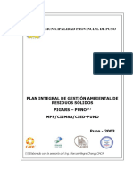 Plan Integral de Gestion Ambiental de Residuos Solidos