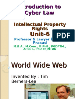 Introduction to Cyber Law.
