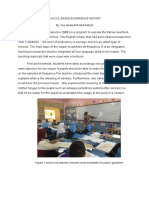 School Based Experience Report