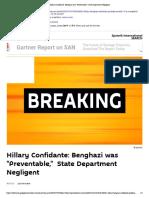 Hillary Confidante_ Benghazi Was _Preventable,_ State Department Negligent