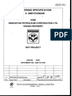 Engineering Specification for MV Switchgear