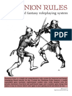 Dominion Rules historical and fantasy roleplaying system v 3.1