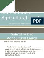 Sale of Public Agricultural Lands