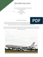 Aviones Presidenciales mas caros.docx