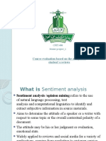 Course Evaluation Based on the Analysis of Steudent Reviews