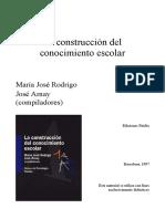 Rodrigo - Construccion Del Conocimiento Escolar