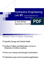 Hydraulics Engineering Lec 5-Weirs and Flume