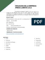 Investigacion e Identificacion de La Empresa Lobato