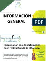 Detalles Festival Suzuki San Salvador 2016 - Delegación Guatemalteca