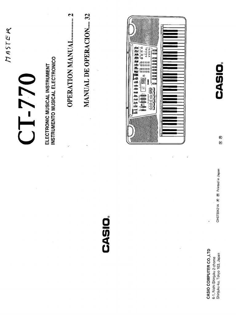 Casio Ct 770 Manual