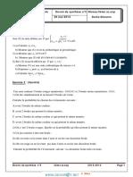 Devoir Corrigé de Synthèse N°3 - Math suites-probabilités-statistiques-géometrie dans l'espace - 3ème Sciences exp (2013-2014) Mr mhamdi abderrazek