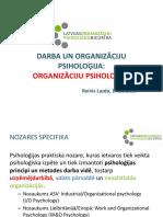 Organizāciju Psiholoģija 1
