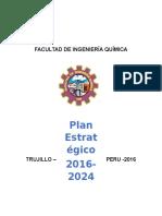 Plan Estrategico de La Facultad de Ingenieria Quimica