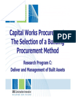 Selection of a Building Procurement Method
