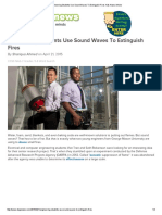 Engineering Students Use Sound Waves to Extinguish Fires Kids News Article