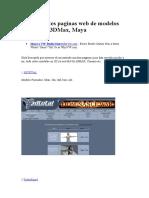 61 Excelentes Paginas Web de Modelos 3D Gratis