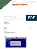 Kumpulan Contoh Sederhana Program C++