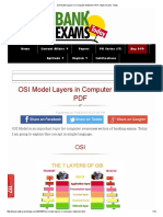 OSI Model Layers in Computer Networks PDF