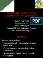 Tanggung Jawab Hukum Pradok 2014