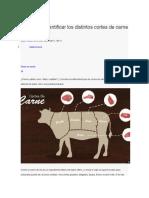 Aprende a Identificar Los Distintos Cortes de Carne