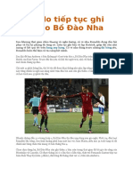 Ronaldo Tiếp Tục Ghi Bàn Cho Bồ Đào Nha