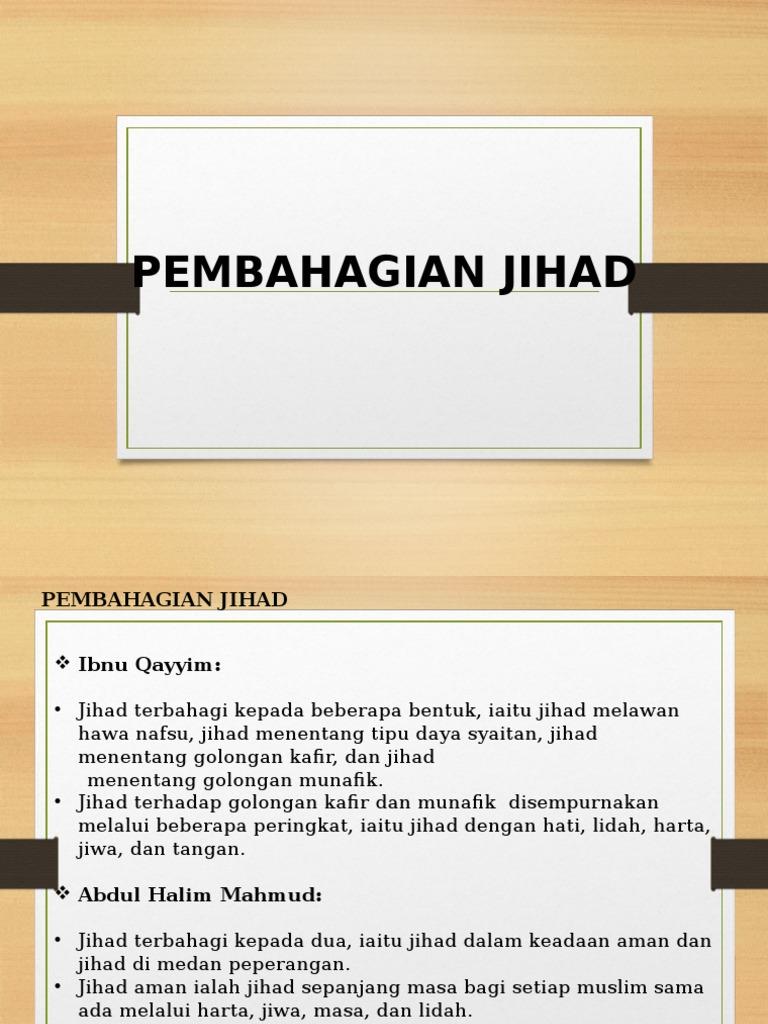4 Pembahagian Jihad