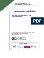 Example Questions PISA 2015 Scotland