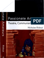 Nicholas Ridout Passionate Amateurs Theatre Communism and Love 1