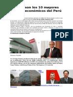 Estos Son Los 10 Mayores Grupos Económicos Del Perú