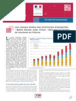 1503_Ministère de l'Economie de l'Industire_Les Pays Emergents Stimulent Le Tourisme en France - 2004-2013 Chinois