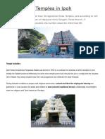 Hindu Temples in Ipoh