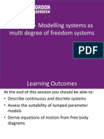 Lecture 1-Multi Degree of Freedom Systems