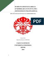 Analisis Bidang Hukum Olahraga; Yurisdiksi FIFA