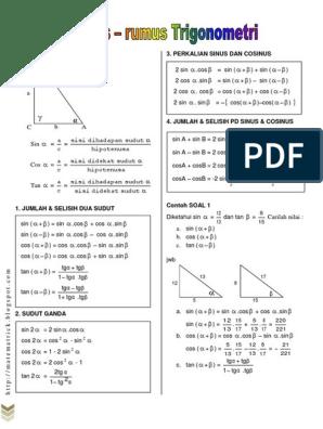 Bab Rumus Rumus Trigonometri Pdf