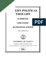 Vi Sem-ba Pol Sc-core Course-modern Political Thought