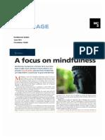 Mindfulness Headteacher Update