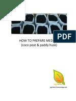 Medium Preparation cocopeat