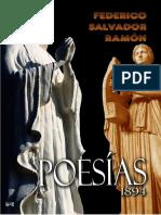 POESIAS. Federico Salvador Ramón. 1894