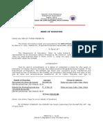 Deed of Donation, Bwc Printz