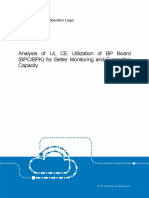 Analysis of UL CE Utilization of BP Board for Better Monitoring and Expanding Capacity