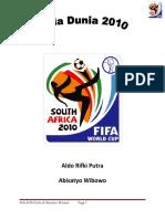 Piala Dunia 2010 & Sejarah Sepak Bola Indonesia