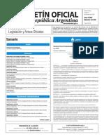 Boletín Oficial de la República Argentina, Número 33.479. 11 de octubre de 2016