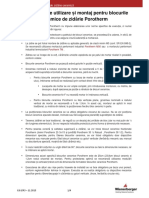 Instructiuni de Punere in Opera Produse Porotherm 2015